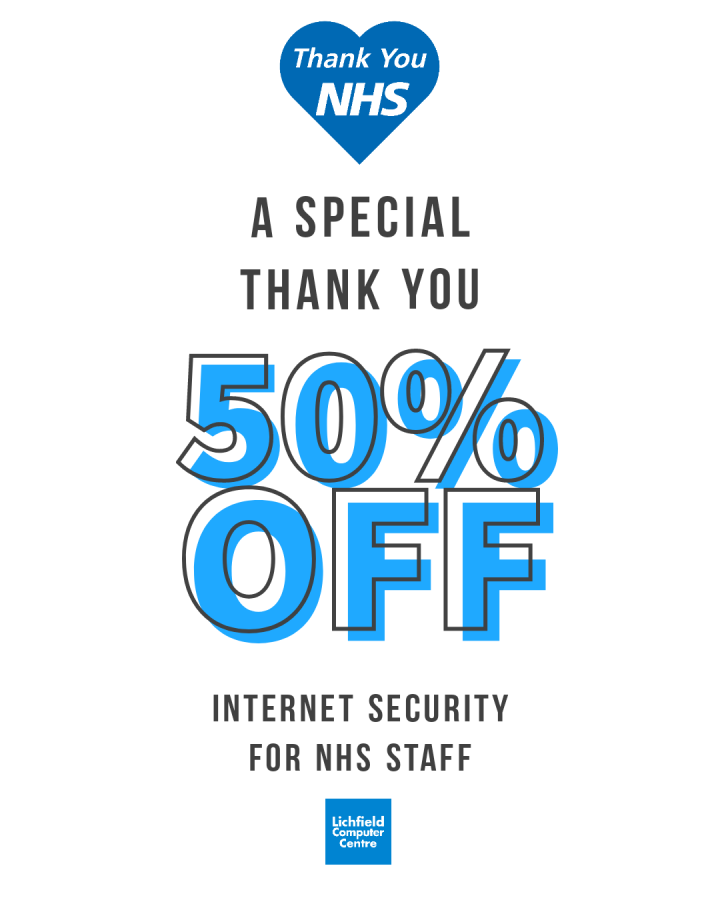 Exclusive 50% NHS Discount on Internet Security
