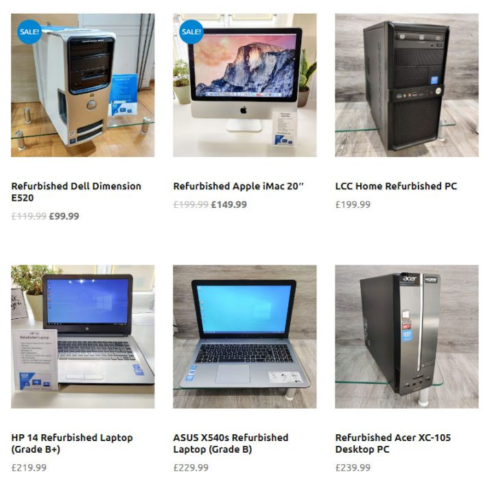 Refurbished PCs & Laptops in stock